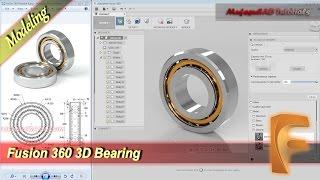 Fusion 360 3D Bearing Tutorial Beginner Practice 9
