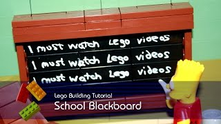 Lego Tutorial - Building A Blackboard From The Simpsons Springfield School