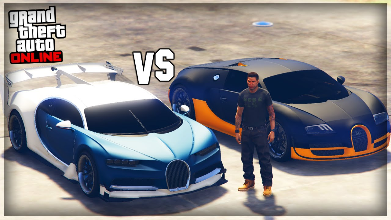 bugatti chiron vs bugatti veyron gta 5 youtube. Black Bedroom Furniture Sets. Home Design Ideas