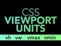 CSS Units: vh, vw, vmin, vmax #css #responsive #design