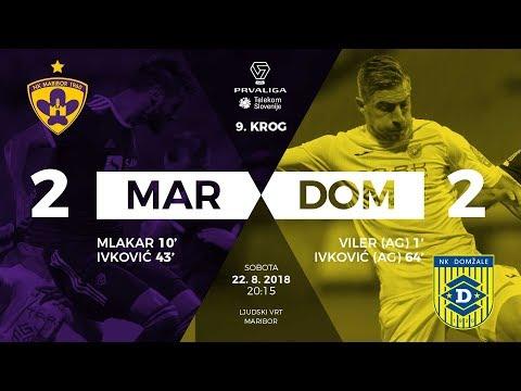 9.krog: Maribor - Domžale 2:2 ; Prva liga Telekom Slovenije 2018/2019