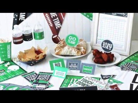 Super Bowl Party Ideas + Printables