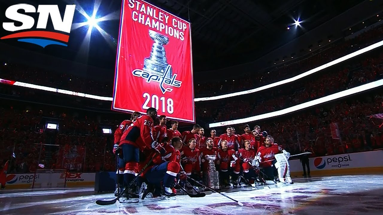 Wait is Finally Over As Capitals Raise Stanley Cup Banner - YouTube 417f08c9521