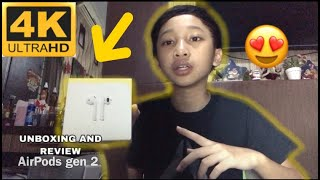 UNBOXING AND REVIEW AIRPODS GEN 2