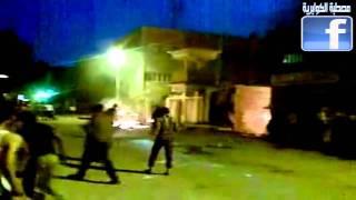 لحظة سقوط القتيل فى احداث مركز شرطة ابوكبير