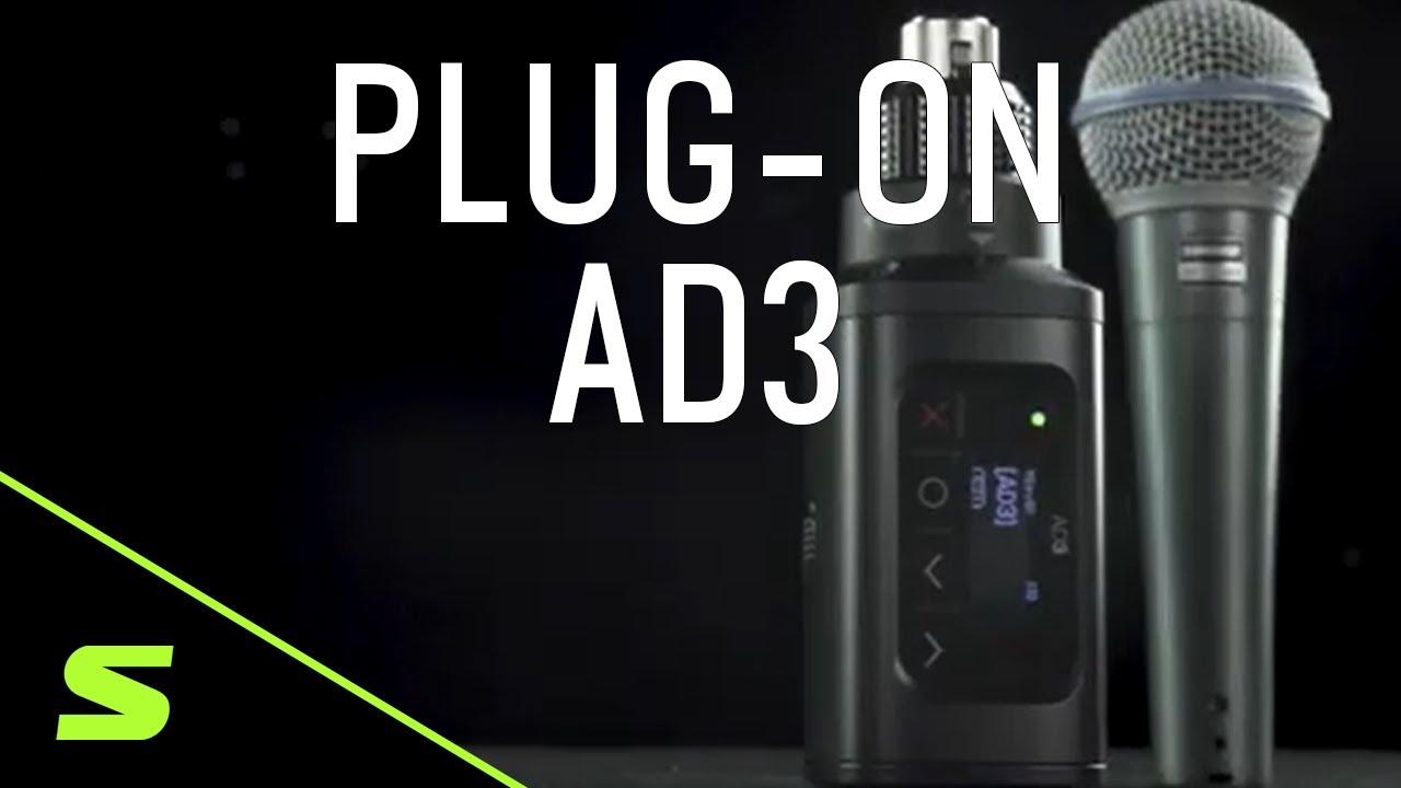 Transmisor Inalámbrico Axient Digital Plug-On Shure AD3