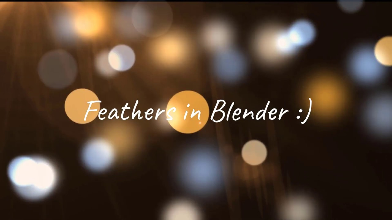 Feathers in Blender!