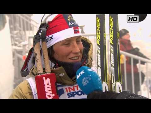 VM Woman's 15 Km Pursuit Holmenkollen 2011 - Marit Bjørgen INTERVIEW