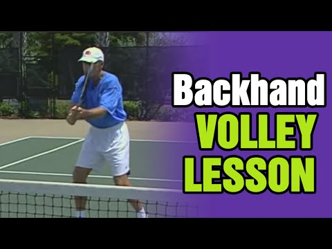 Tennis Lessons - Backhand Volley Lesson | Tom Avery Tennis 239.592.5920