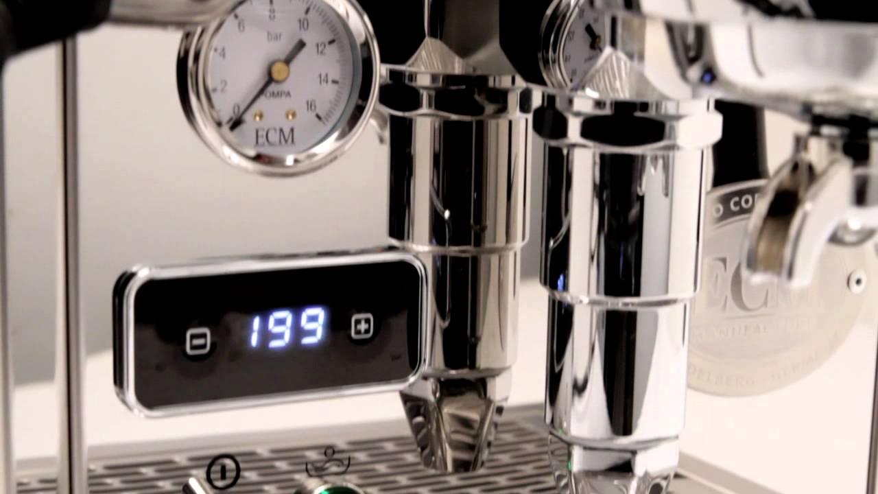 sneak peek  ecm classika pid espresso machine