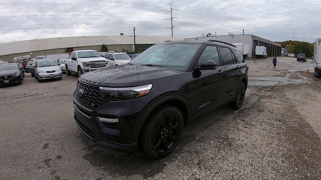 2021 ford explorer black st k8g - youtube