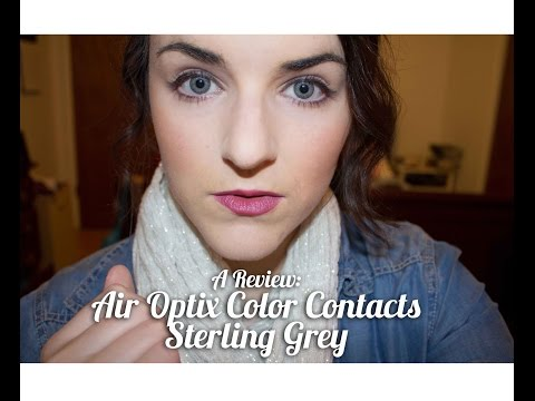A REVIEW || Air Optix Color Contacts (Sterling Grey) for Blue/Green Eyes (FREE TRIAL COUPON LINK)