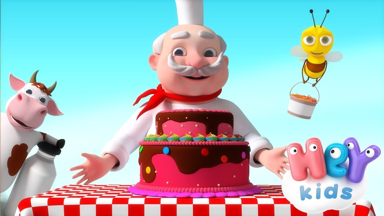 THE BAKER | Cooking Song For Kids + More Nursery Rhymes | HeyKids