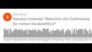 """Manuela Schwesig (SPD): """"Viel Zustimmung für meinen Russland-Kurs"""" (Sputniknews)"""