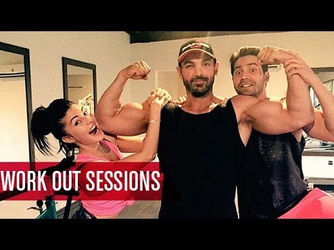 Varun Dhawan, Jacqueline Fernandez, John Abraham's 'Dishoom' Workout Session  | Bollywood News