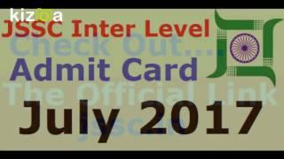 JSSC Inter Level Admit Card July 2017