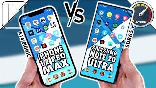 iPhone 12 Pro Max vs Samsung Galaxy Note 20 Ultra Speed Test