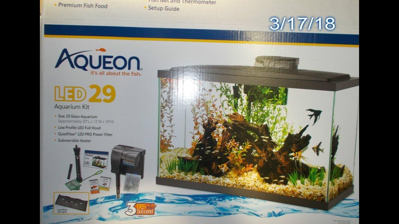 AQUEON 29 Gallon Fish Tank Basic Starter Tank And Tips To Pass Along