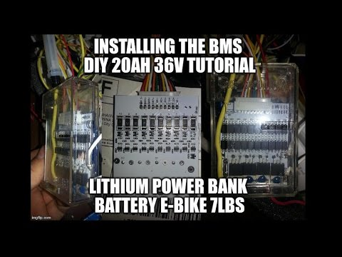 Installing the BMS DIY 20ah 36v Lithium Power Bank Battery E Bike 7lbs ManVSJunk 237