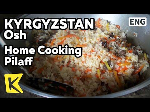 【K】Kyrgyzstan Travel-Osh[키르기스스탄 여행-오시]가정집 방문, 필라프 요리/Home/Cooking/Pilaff/Plov/Naan/Cherry