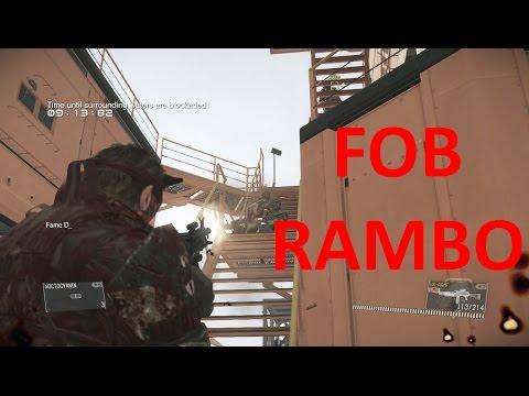 Metal Gear Solid V FOB Massacre, Rambo |