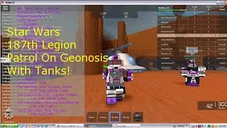 Roblox Star Wars Geonosis 187th patrol + Tanks