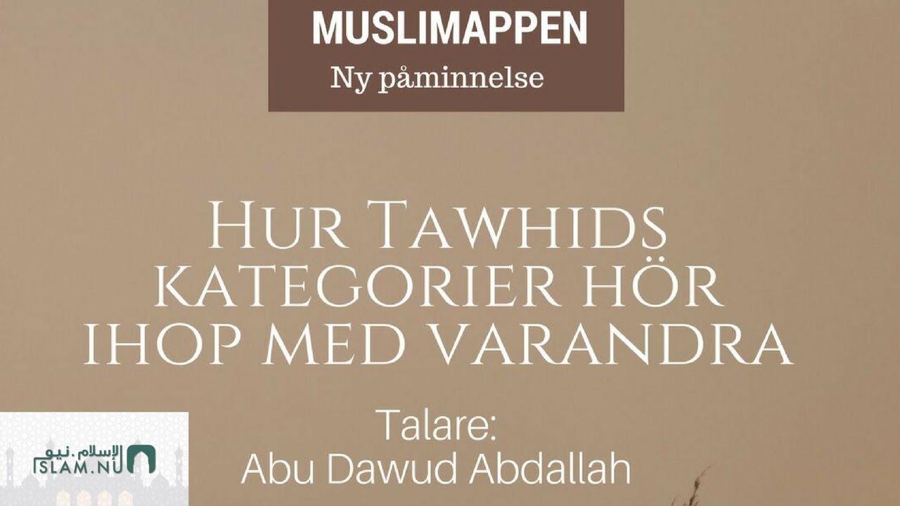 Hur Tawhids kategorier hör ihop med varandra   Muslimappen