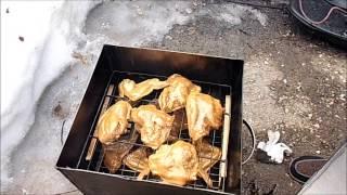 Моя коптильня для горячего копчения. Копчение курицы.