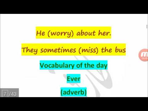 Correct forms of verb in English Grammar Video tutorial for Students Part #01