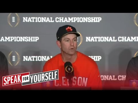 Does Colin Cowherd owe Dabo Swinney and Clemson an apology? | SPEAK FOR YOURSELF