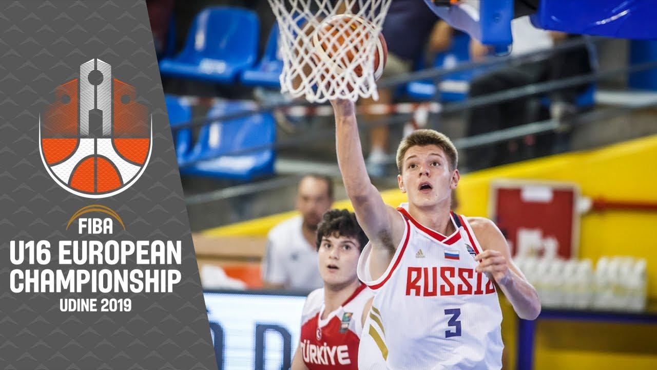 Russia v Turkey - Full Game - FIBA U16 European Championship 2019