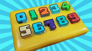 Learn Numbers with a wooden board in ENGLISH