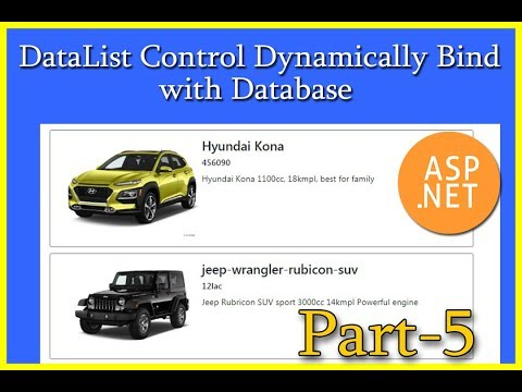 ASP.NET | DataList Control Dynamically Bind With Database | Part-5