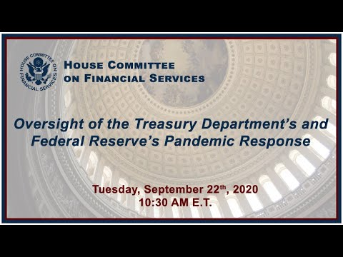 Oversight of the Treasury Department's and Federal Reserve's Pandemic Response… (EventID=111021)