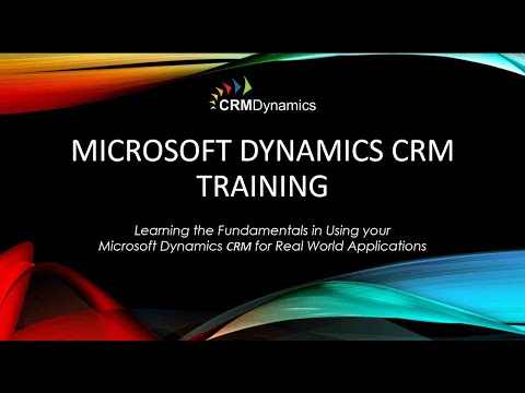 Microsoft Dynamics CRM 2015 Training - Back to Basics (44:30)