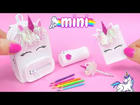 DIY Miniature School Supplies That Work! 🦄 Unicorn