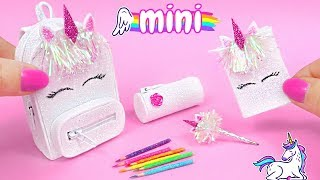 DIY Miniature School Supplies That Work! 🦄 Unicorn