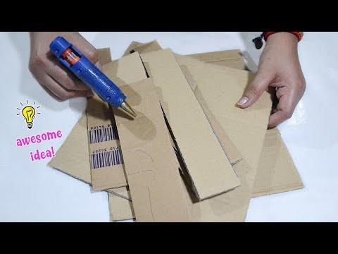Best reuse of old cardboard / unique nailpolish storage box of waste cardboard