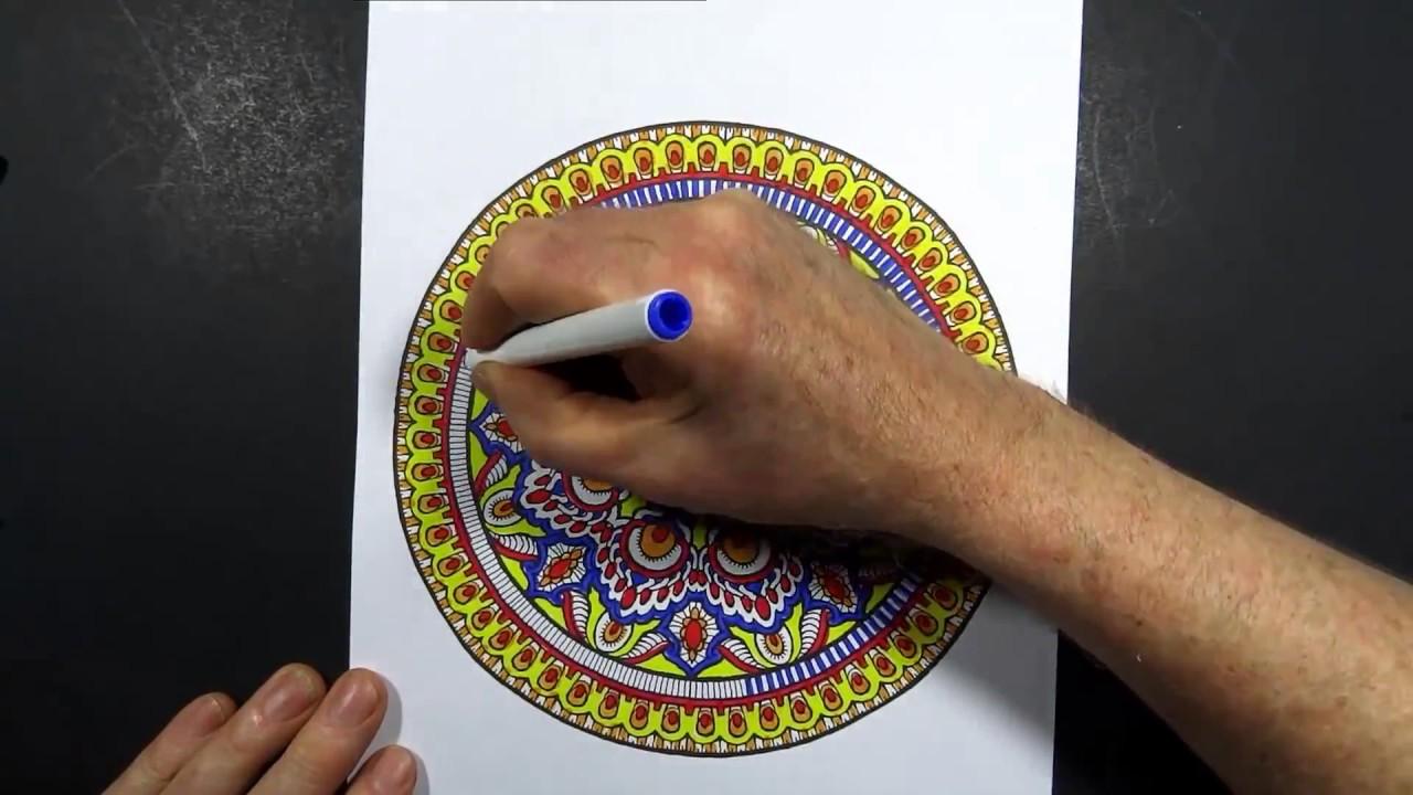 Mandala Boyama Nasıl Yapılır Mistik Mandala Youtube