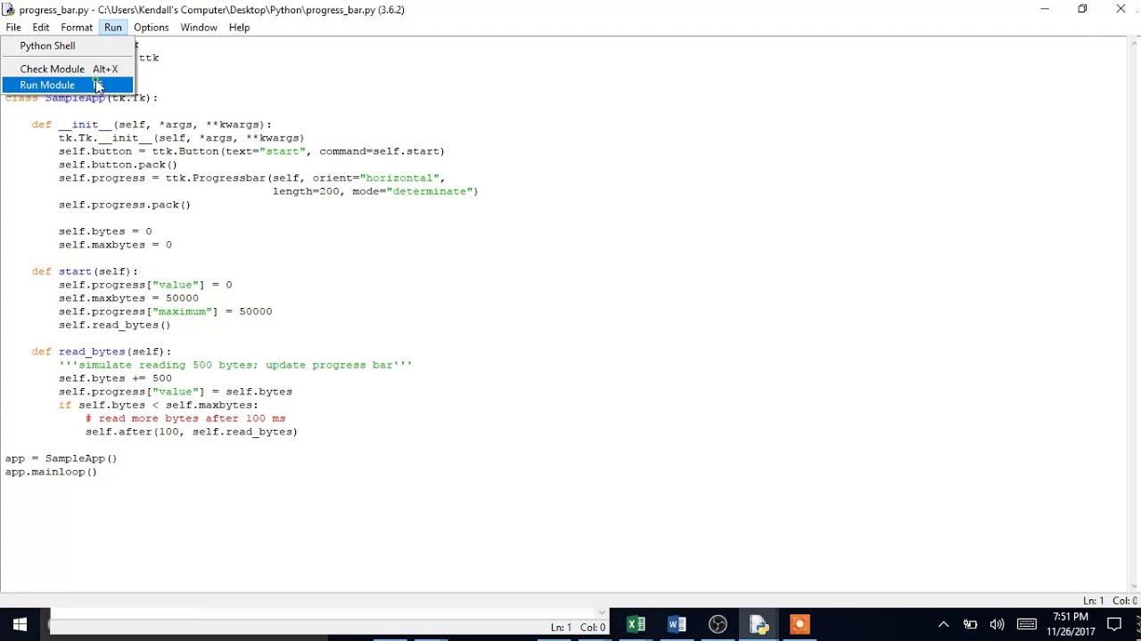 Python - Create a Progress Bar