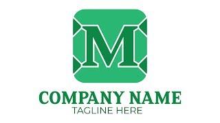 Wie Erstellen M Brief-Logo in Illustrator CC Tutorial