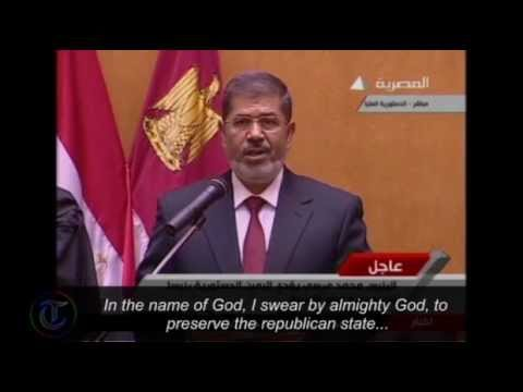 Egypt's new president Mohammed Morsi sworn in