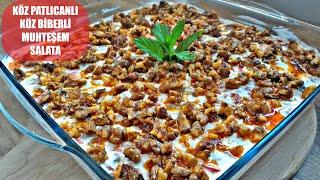 Lezzetine Bayılacağınız Çok Kolay Hazırlanan Köz Patlıcan Biberli Salata Tarifi