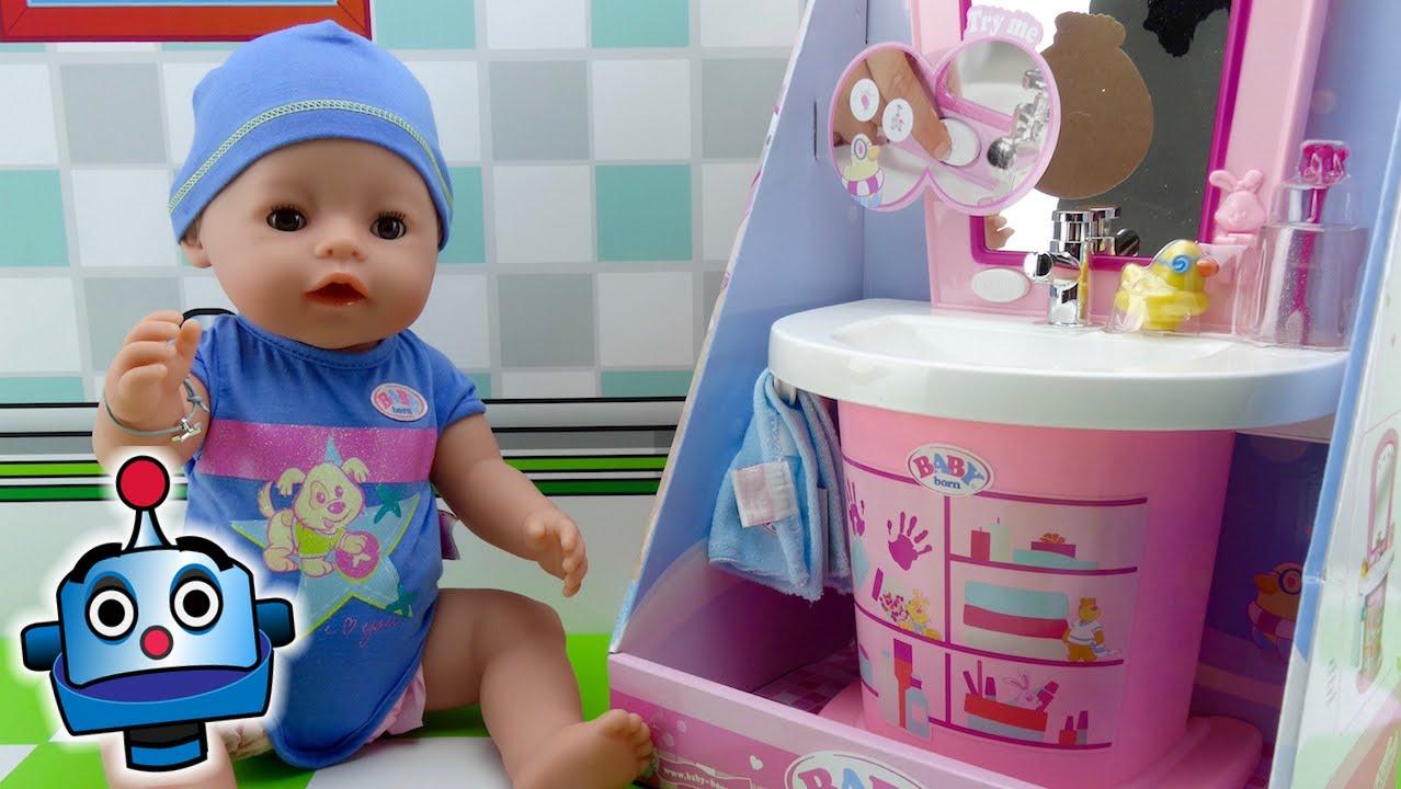 Bebe Y Lavabo Interactivos De Baby Born Juguetes De Baby Born