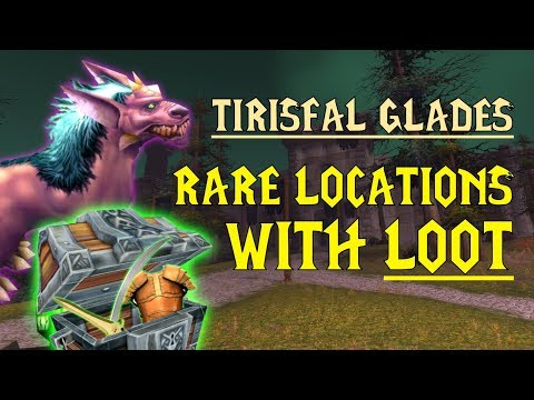 WoW Classic - Rare Mob Locations + UNIQUE LOOT - Tirisfal Glades