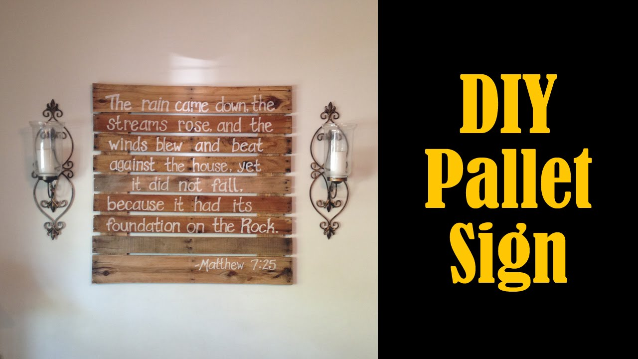 Make a Sign From a Pallet - DIY (CMRW#32) - YouTube