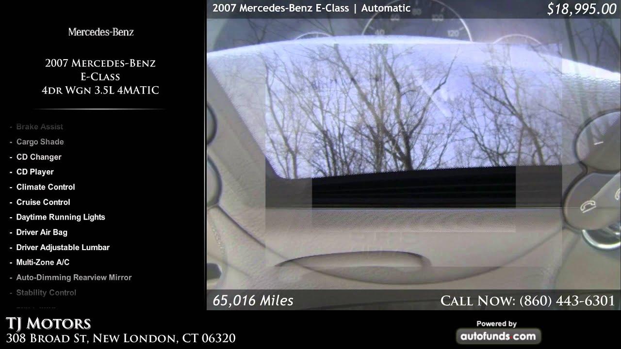 Used 2007 mercedes benz e class tj motors new london for Mercedes benz new london ct