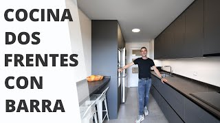 Cocina GRIS antracita // Dos Frentes CJR