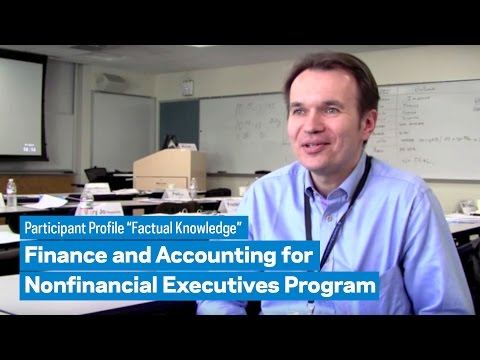 "Finance and Accounting for the Nonfinancial Executive: Participant Profile ""Factual Knowledge"""