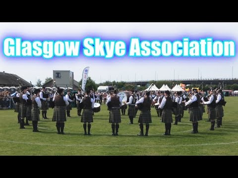 Glasgow Skye Association Pipe Band at Paisley - British Pipe Band Championships 2018